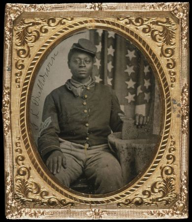 Tintype of Black Union Soldier, J. L. Balldwin c. 1863, Chicago History Museum, ICHi-22172