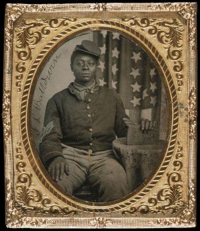 Tintype of Black Union Soldier, J. L. Balldwin c. 1863, Chicago History Museum, ICHi-22172