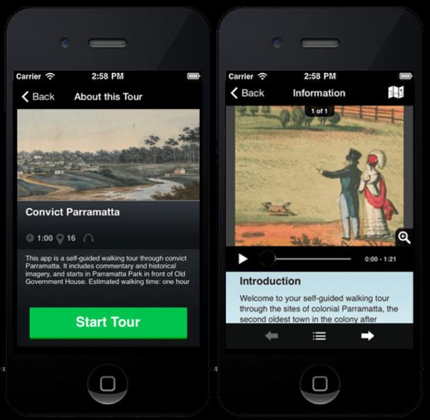 Convict Parramatta, Dictionary of Sydney Walks app, The Old Parramattan